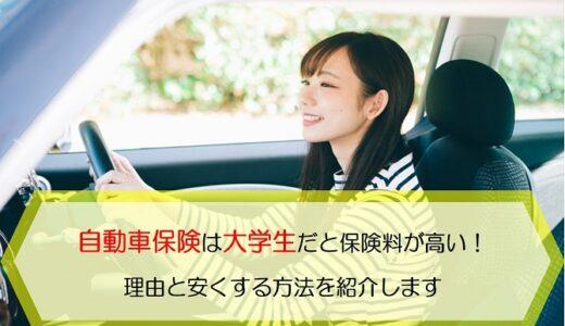 自動車保険は大学生だと保険料が高い!理由と安くする方法を紹介します