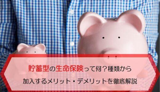 貯蓄型の生命保険って何?種類から加入するメリット・デメリットまで徹底解説