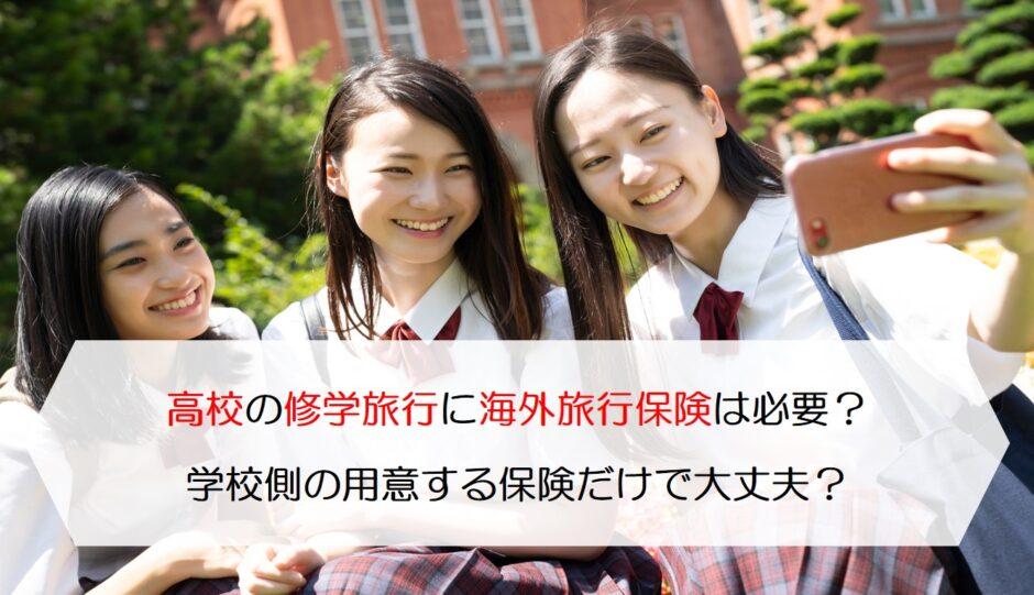 高校の修学旅行に海外旅行保険は必要?学校側の用意する保険だけで大丈夫?